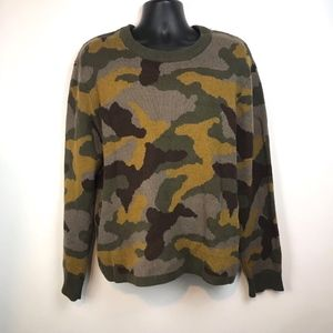 Urban Outfitters Camouflage Crewneck Sweater